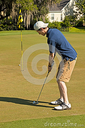 Golf Putting Stock Image - Image: 28192101