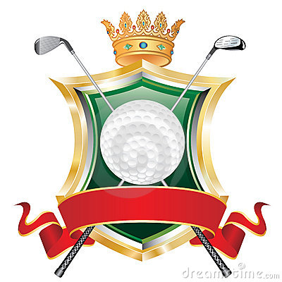 Free Golf Red Banner Royalty Free Stock Photo - 17355395