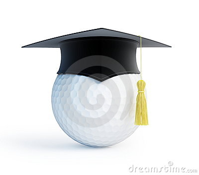 Golf school graduation cap