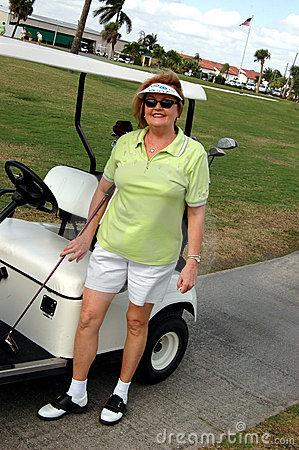 Free Golf Senior Woman Stock Photo - 1674630