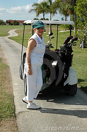 Free Golf Senior Woman Royalty Free Stock Photography - 1675537
