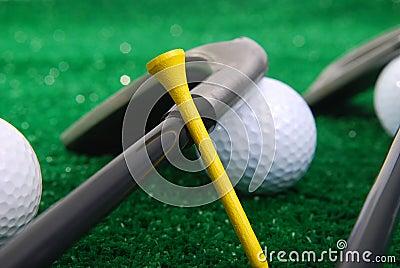 Golf set on grass