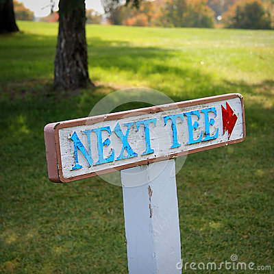 Golf Sign: Next Tee