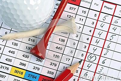 Golf socrecard met vogeltje