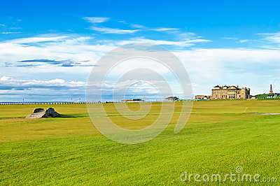 Golf St Andrews old course links. Scotland.