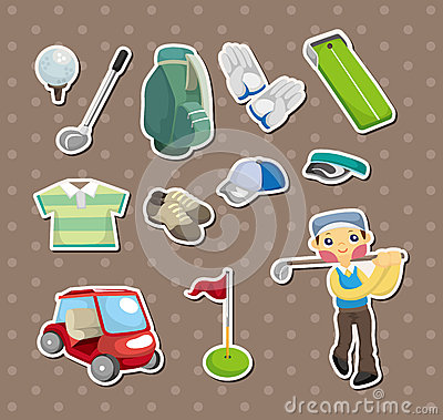 Golf stickers