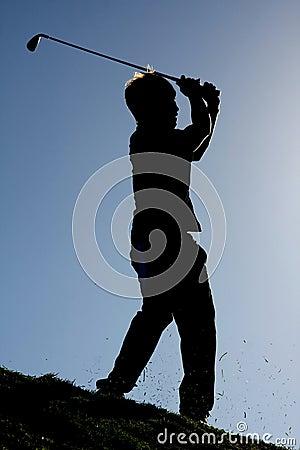Golf Stroke Silhouette