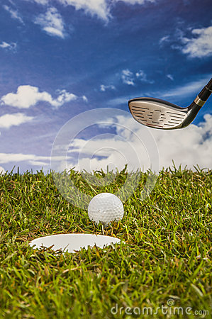 Golf stuff with sports equipment