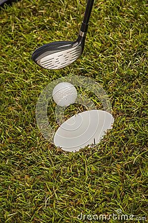 Golf stuff with sports equipment