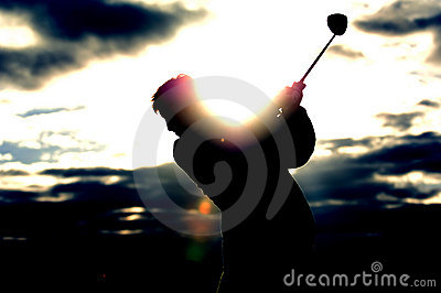 Golf sunrise 01