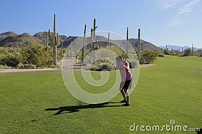 Golf swing Arizona golf course