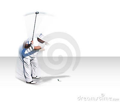 Golf swing in motion (w/ clip path)