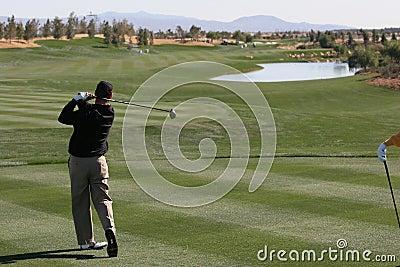 Golf swing in palm springs