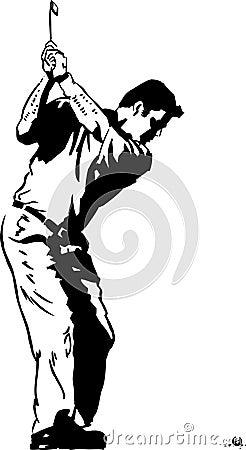 The Golf Swing Pose
