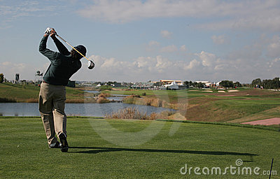 Golf swing in vilamoura