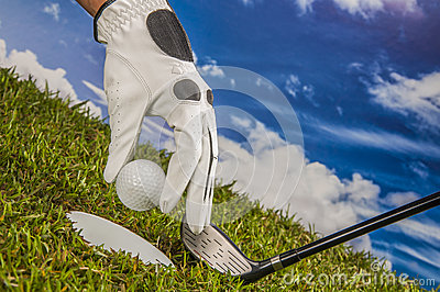 Golf theme with vivid bright colors