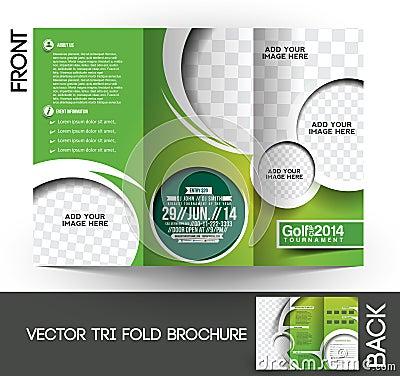 Free Golf Tournament Brochure Stock Photo - 41889010