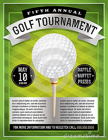 Free Golf Tournament Flyer Stock Photography - 39147762