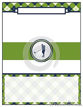 golf tournament flyer blank template stock vector image 71697563. Black Bedroom Furniture Sets. Home Design Ideas
