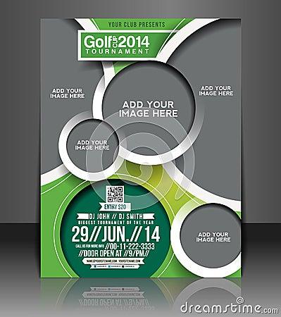 Free Golf Tournament Flyer Design Royalty Free Stock Image - 40825216