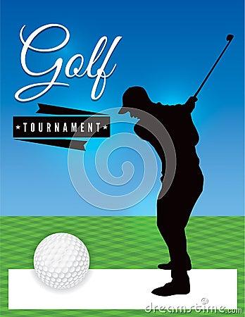 golf tournament flyer template illustration stock illustration image 54169491. Black Bedroom Furniture Sets. Home Design Ideas