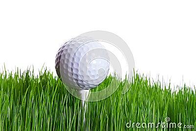 Golfbal op het T-stuk