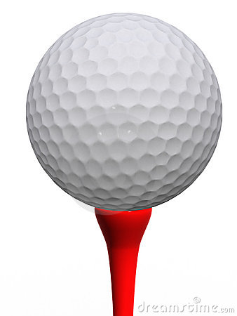 Golfball e T vermelho