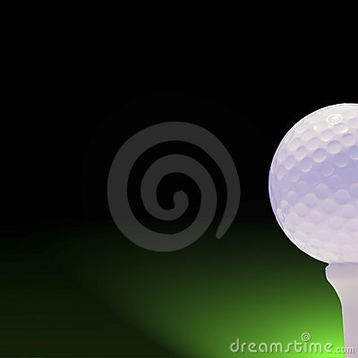 Free Golfball On Green And Black Stock Images - 184204