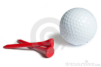 Golfball red tee