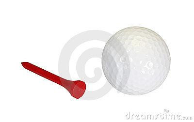 Golfball and Tee