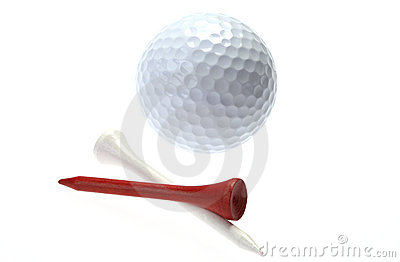 Golfball and tees