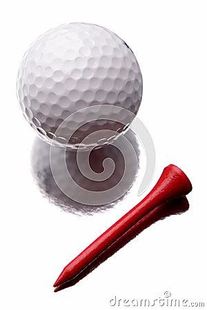Golfball und T-Stück