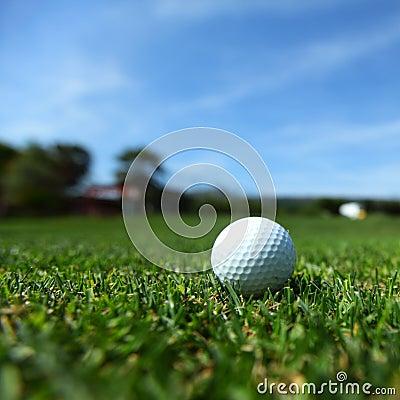 Golfboll på kurs
