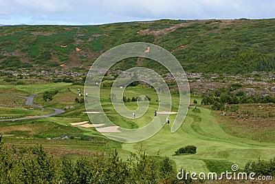Golfcourse layout