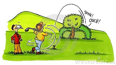 Golfer accident - Golf Cartoons Series Number 2