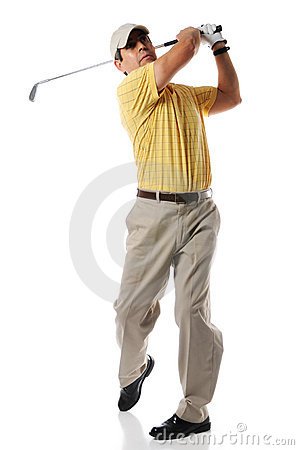 Free Golfer After Swing Stock Photography - 9260462