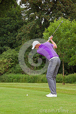 Golfer backswing