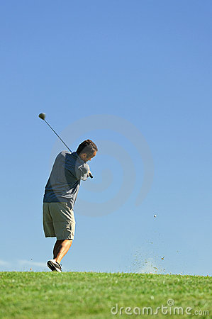 Golfer and ball