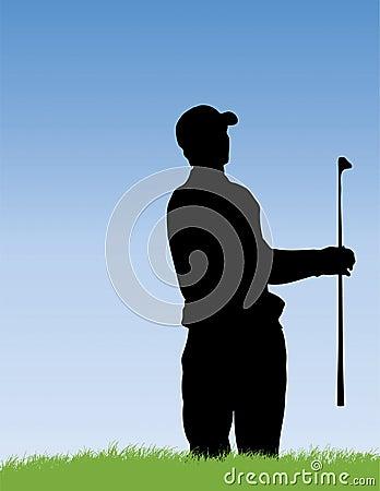 Golfer in Bunker