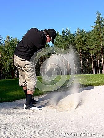 Golfer - Bunker Shot