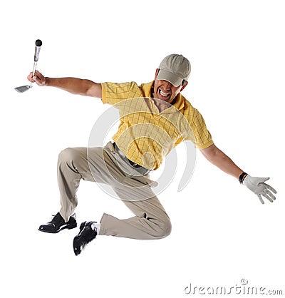 Golfer Clicking Heels
