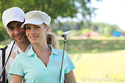 Golfer couple