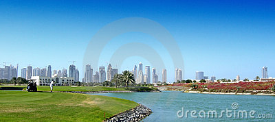 Golfer at Dubai
