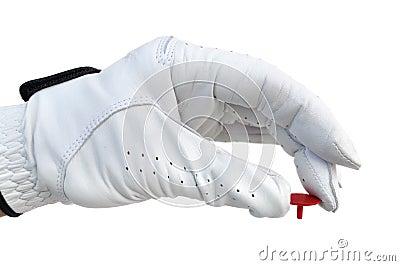 Golfer Holding a Ball Marker