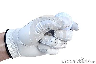 Golfer Holding a Golf Ball