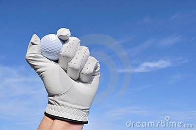 Golfer Holding a Golf Ball