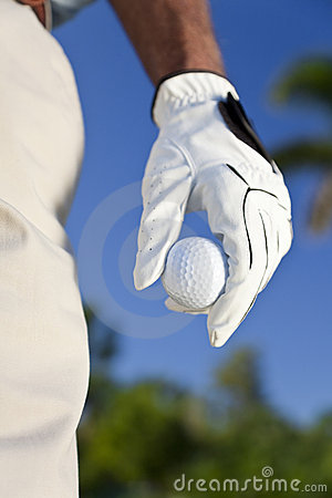 Golfer Holding Golf Ball