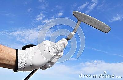 Golfer Holding a Putter