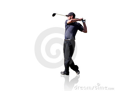 Golfer Isolated