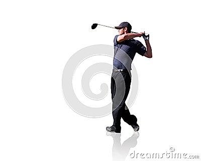Golfer Isolated